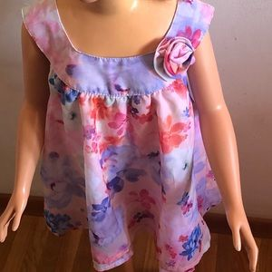 Pink floral dress 1/3 t